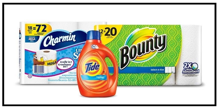 Target  ~$5 Gift Card when you buy 2 select Tide, Gain, Downy, Dreft and Bounce laundry care, or Charmin and Bounty paper items (Ends 7/29) + Free shipping with $35 order