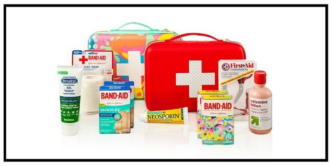 Target  ~ Choose a first aid kit bag free when you buy select 3 first aid health care items (Ends 9/9) + Free shipping with $35 order