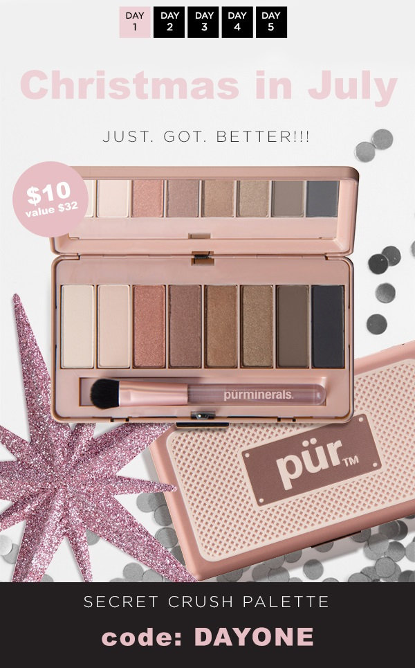PÜR ~  Secret Crush Eye Shadow Palette  ($32 value) was: $20 now: $10 with promo code: DAYONE (Ends 7/24) + Free shipping with $50 order