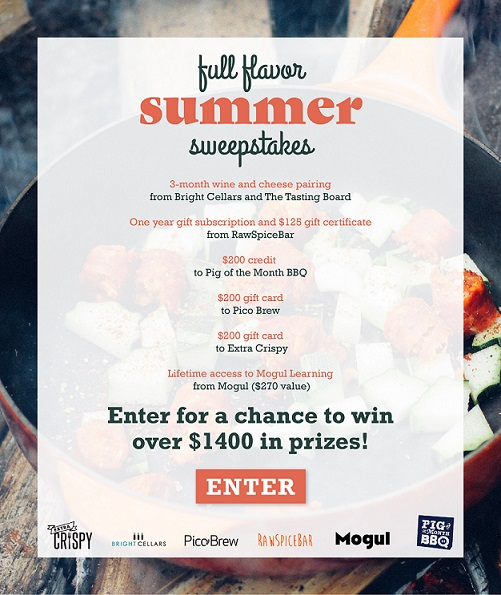 Enter for a chance to win over $1,400 in prizes in the Full Flavor Summer Swepstakes (You must be 21 years of age and not reside in Alaska or Hawaii. Ends 7/28/2017 at 11:59pm)