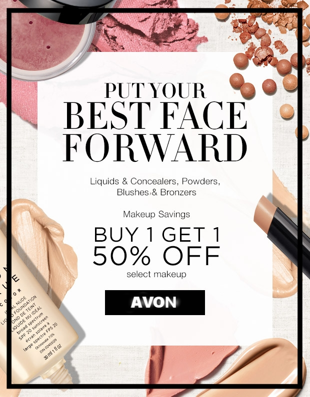 Avon ~Makeup -  Buy 1, get 1 50% Off on Select Makeup  ~ $8 - $12 + Free shipping with $40 order or free ShopRunner Shipping with $25 order