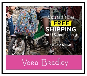 Vera Bradley ~  Extra 30% Off of Clearance  (Discount applies in cart) + Free shipping on all U.S. orders