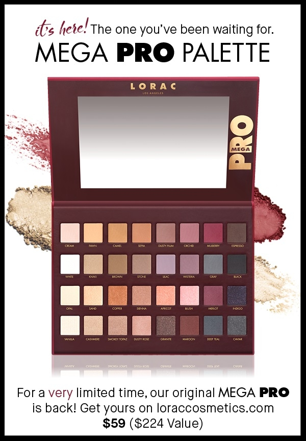 Lorac ~  LORAC MEGA PRO PALETTE  ($224 value ~ while supplies last!) ~ $59 + Free shipping