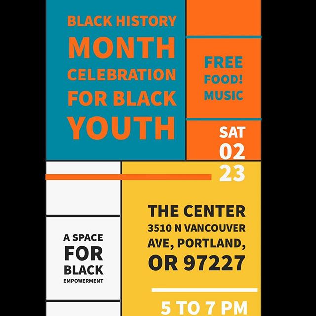 our next event with the center youth collective is a black identity & culture celebration. this will be a black space to celebrate blackness and what it means to be black, we ask that only black people come. there will be food and music provided and it will be a space for conversations, friendships and bonding. art credit for the poster @tahznime @z3kras