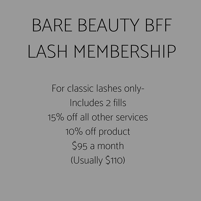 ✨NOW ACCEPTING NEW CLASSIC LASH MEMBERS!✨ We are excited to finally be accepting new members again! This is the ultimate deal for those who come twice a month to get their lashes done! Who doesn't want to save alittle 💸 in the process!  Inquire with out front desk staff for more details or to sign up! 🙌🏼 Space is limited!