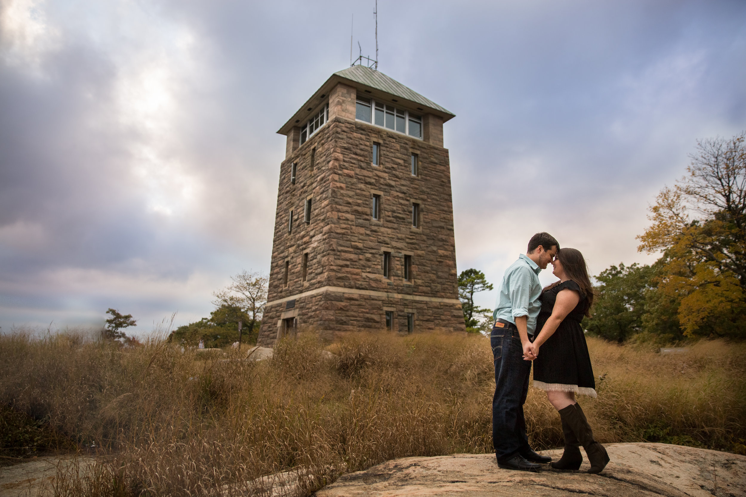 perkins tower engagement photos