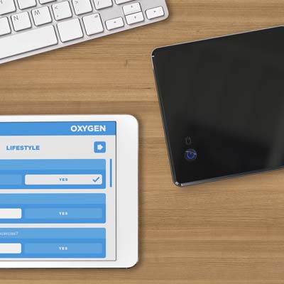 OXYGEN  A complete stand-alone system for point-of-care wellness screening events. Wirelessly collect data accurately and quickly. Single button startup and fully wireless operation make it a breeze to use.