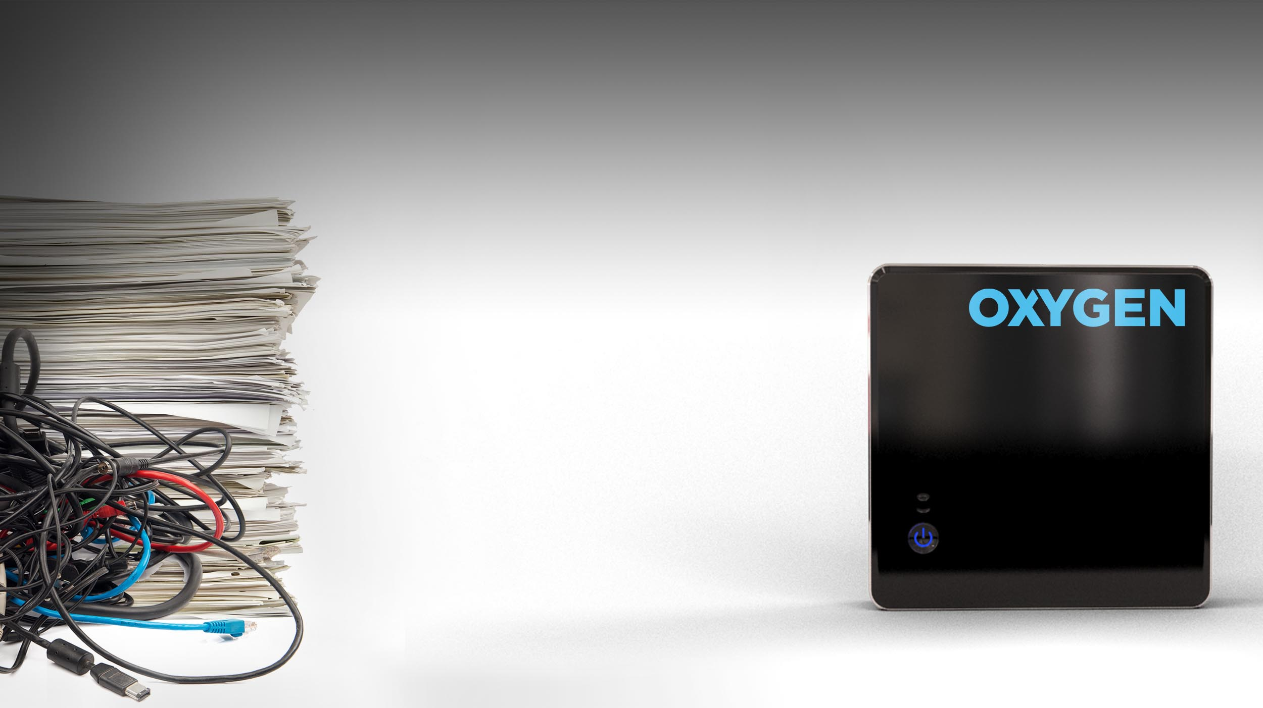 GOODBYE PAPER & WIRES   Say hello to Oxygen - the all wireless electronic data capture system.