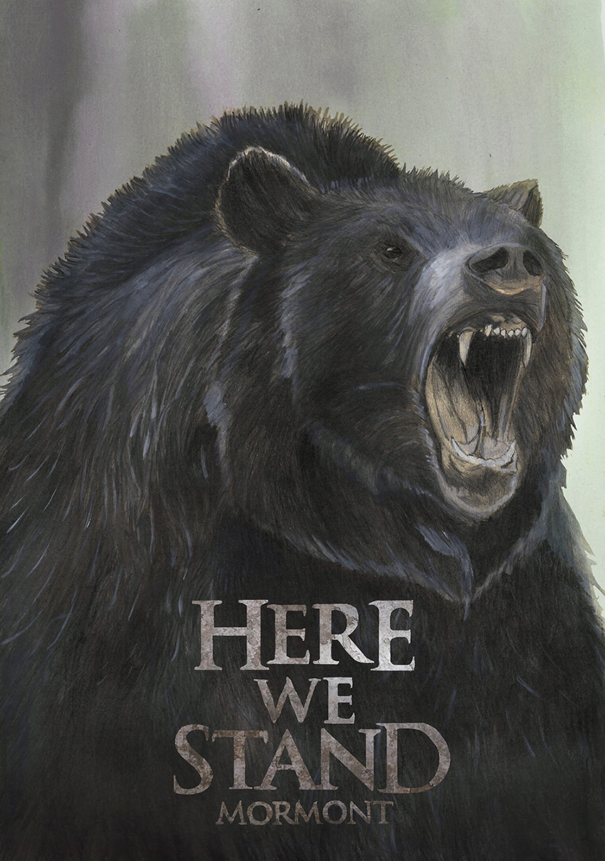 "House Mormont ""Here we stand"""