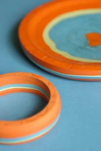 Coloured Plate & Bracelet