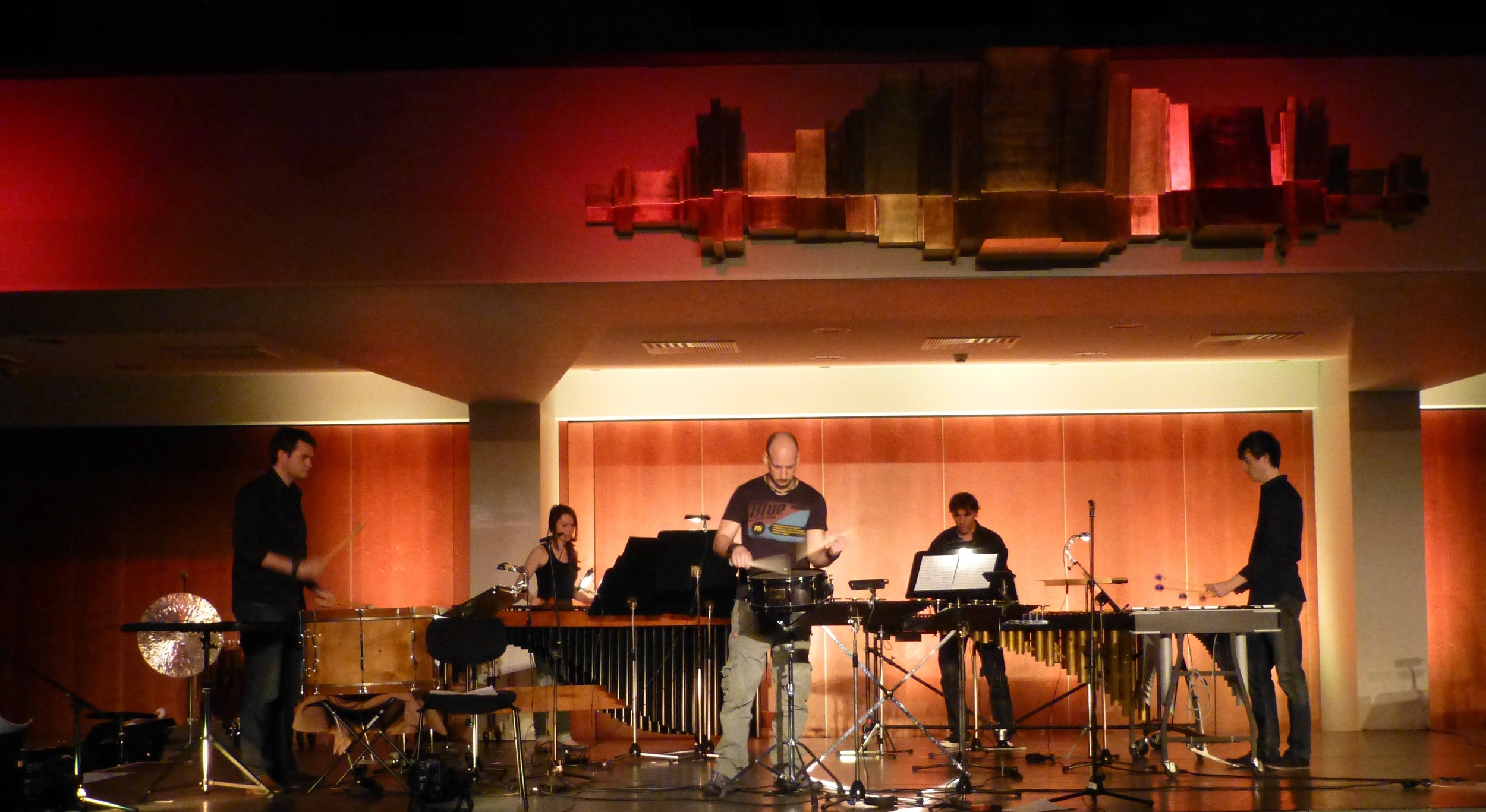 London Percussion at the Vaduzer Saal Liechtenstein with guest artist Max Naescher