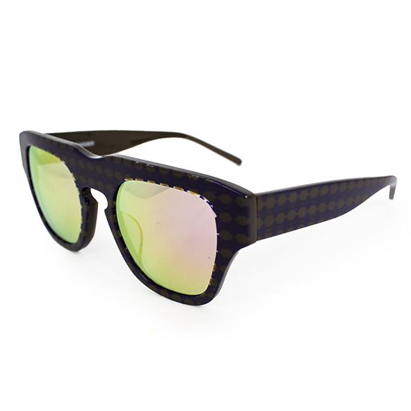 The Dagger Sunglasses in Micro Dotted Black