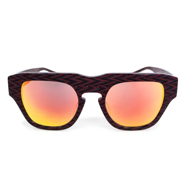 The Dagger Sunglasses in Zig Zag Red