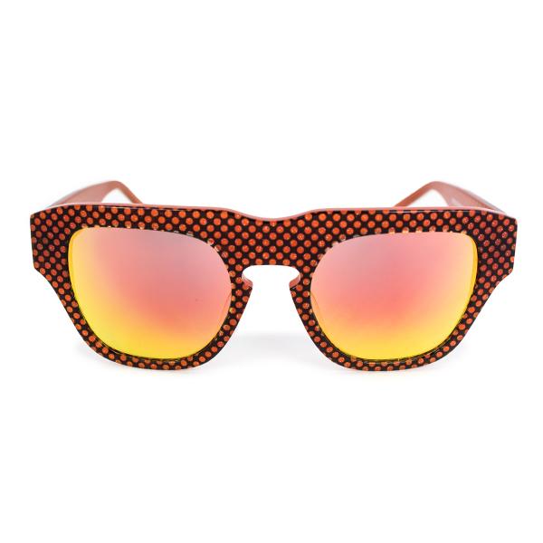 The Dagger Sunglasses in Micro Dotted Orange