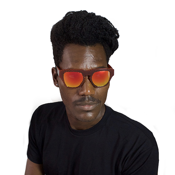 The Dagger Sunglasses in Micro Dotted Red