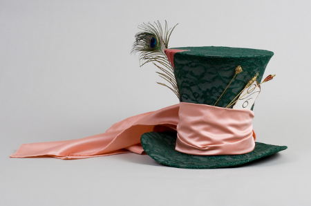 Ceramic reproduction of the Mad Hatter's hat for permanent display in the Young Readers' Center.