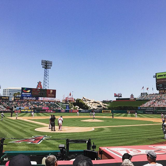 Celebrating @rdickenson's birthday at the Angels vs Mariners game, and Paxton is dealing!! #GoMariners