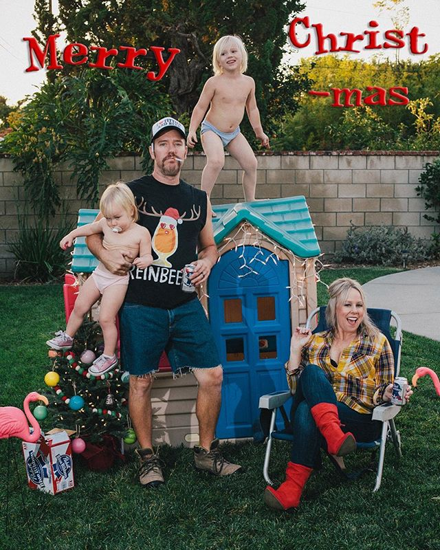 Merry Christmas to all, and to all a pack of reds and a PBR! 🎄🚬🍺 #ChristmasCard