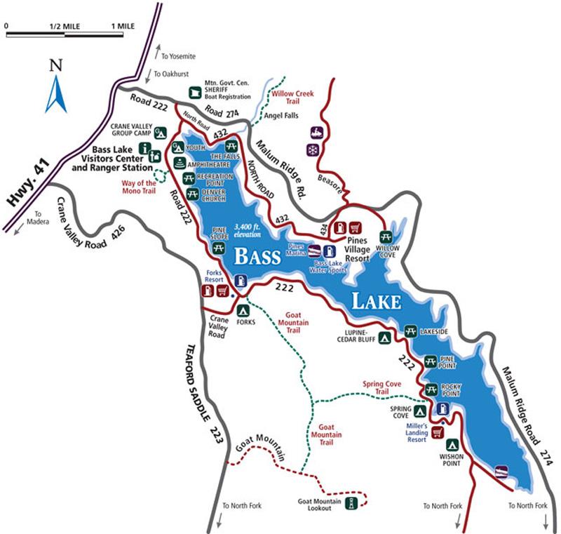 bass lake california map Map Directions Bass Lake Chamber Of Commerce bass lake california map