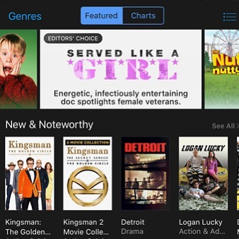 #EditorsChoice feels really really good! Available to rent or own on @iTunes today!  #ServedLikeaGirl
