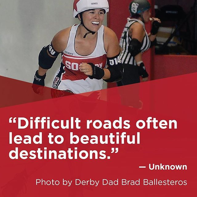 "#TeamworkTuesday ""Difficult roads often lead to beautiful destinations."" — Unknown  Photo by Derby Dad Brad Ballesteros #soderby #southernoregonderby #pnwrollerderby #oregon #pnw #oregonrollerderby #sooregon #quote  #leagueteamself #rollerderby #rollerderbyofig #rollerderbyofinstagram #derbyfit #derbylife #derby #derbyofig #derbyofinstagram #lovederby #loverollerderby #team #wearesoderby #inspirationalquotes"