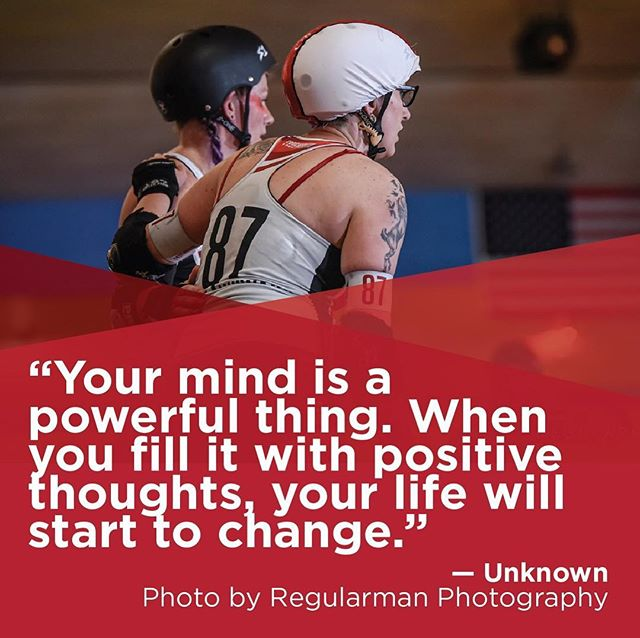 """#TeamworkTuesday """"Your mind is a powerful thing. When you fill it with positive thoughts, your life will start to change."""" — Unknown  Photo by Regularman Photography.  #soderby #southernoregonderby #pnwrollerderby #oregon #pnw #oregonrollerderby #sooregon #quote  #leagueteamself #rollerderby #rollerderbyofig #rollerderbyofinstagram #derbyfit #derbylife #derby #derbyofig #derbyofinstagram #lovederby #loverollerderby #team #wearesoderby #inspirationalquotes"""