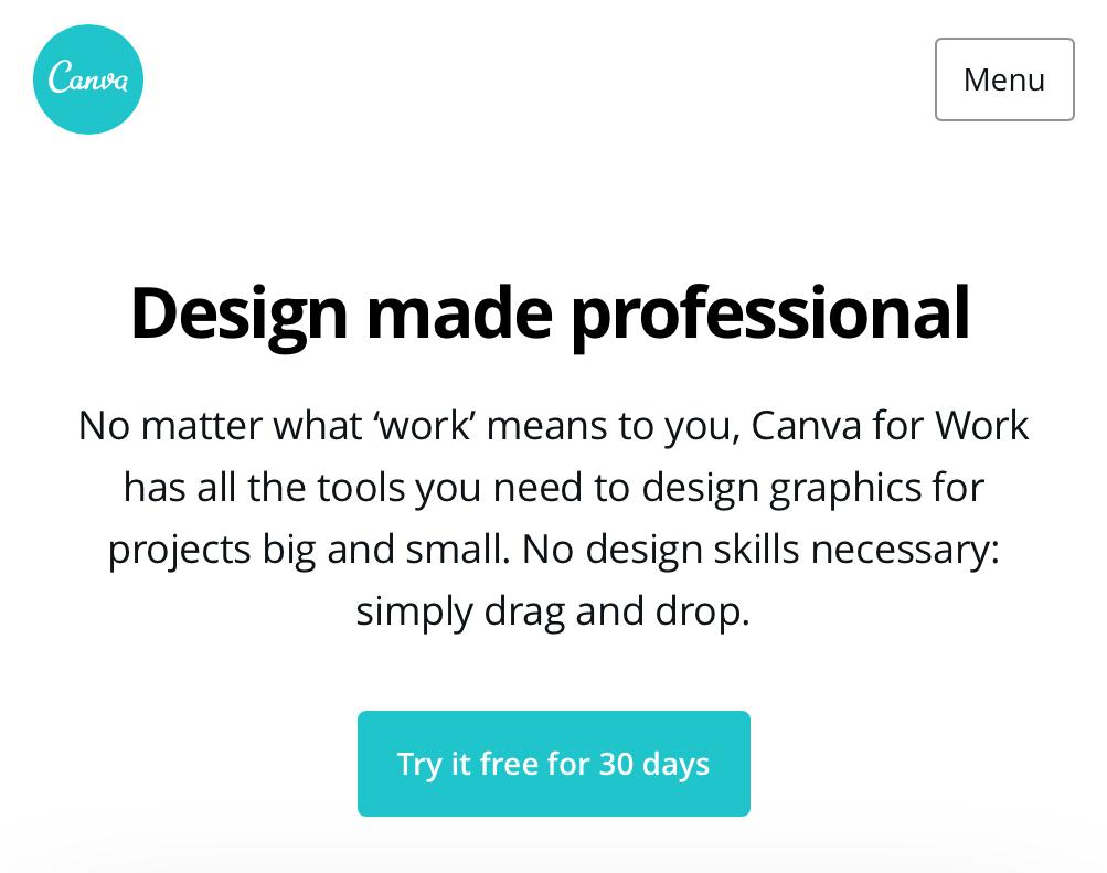 Free online design tool – Canva.com