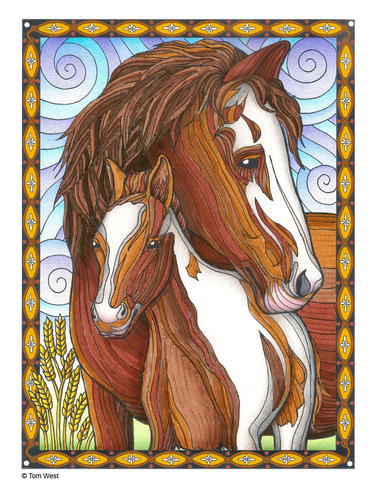 Horse Coloring Book Page