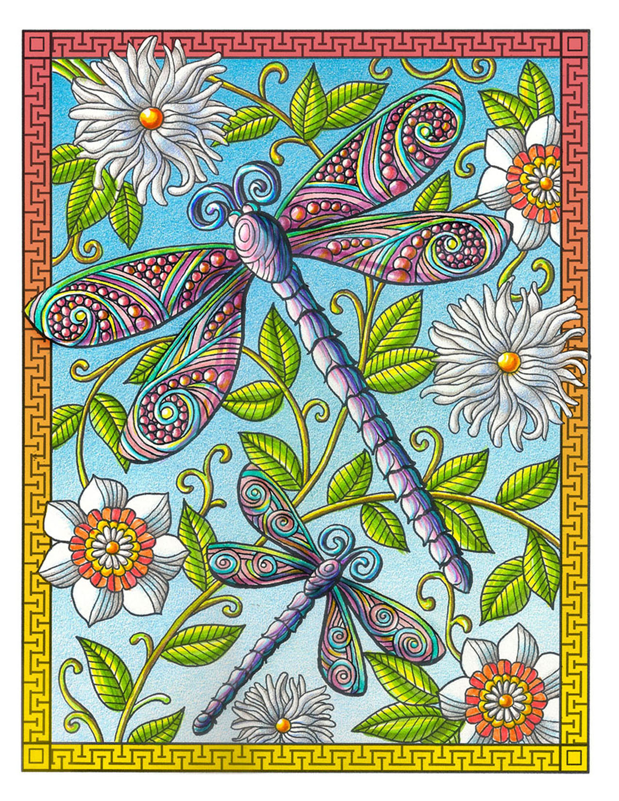Dragonfly Coloring Book Page
