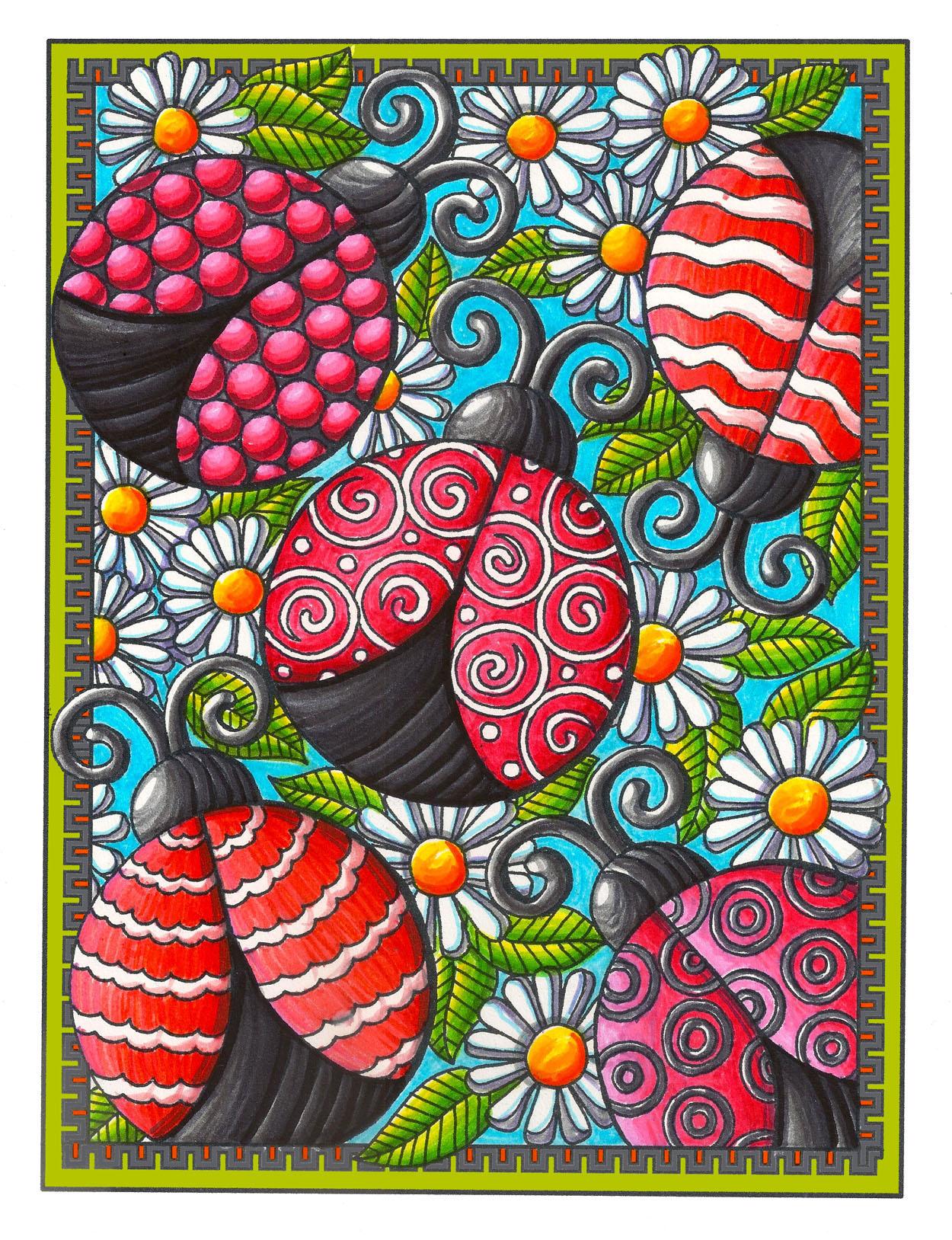 Ladybug Coloring Book Page