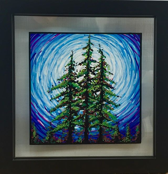 New hand painted glass piece finished this week.  #handpainted #handpaintedglass #originalart #pinetreeart #pnw #pnwartist #pdx #pdxart #natureartwork #natureart #artoninstagram #color #tomwest