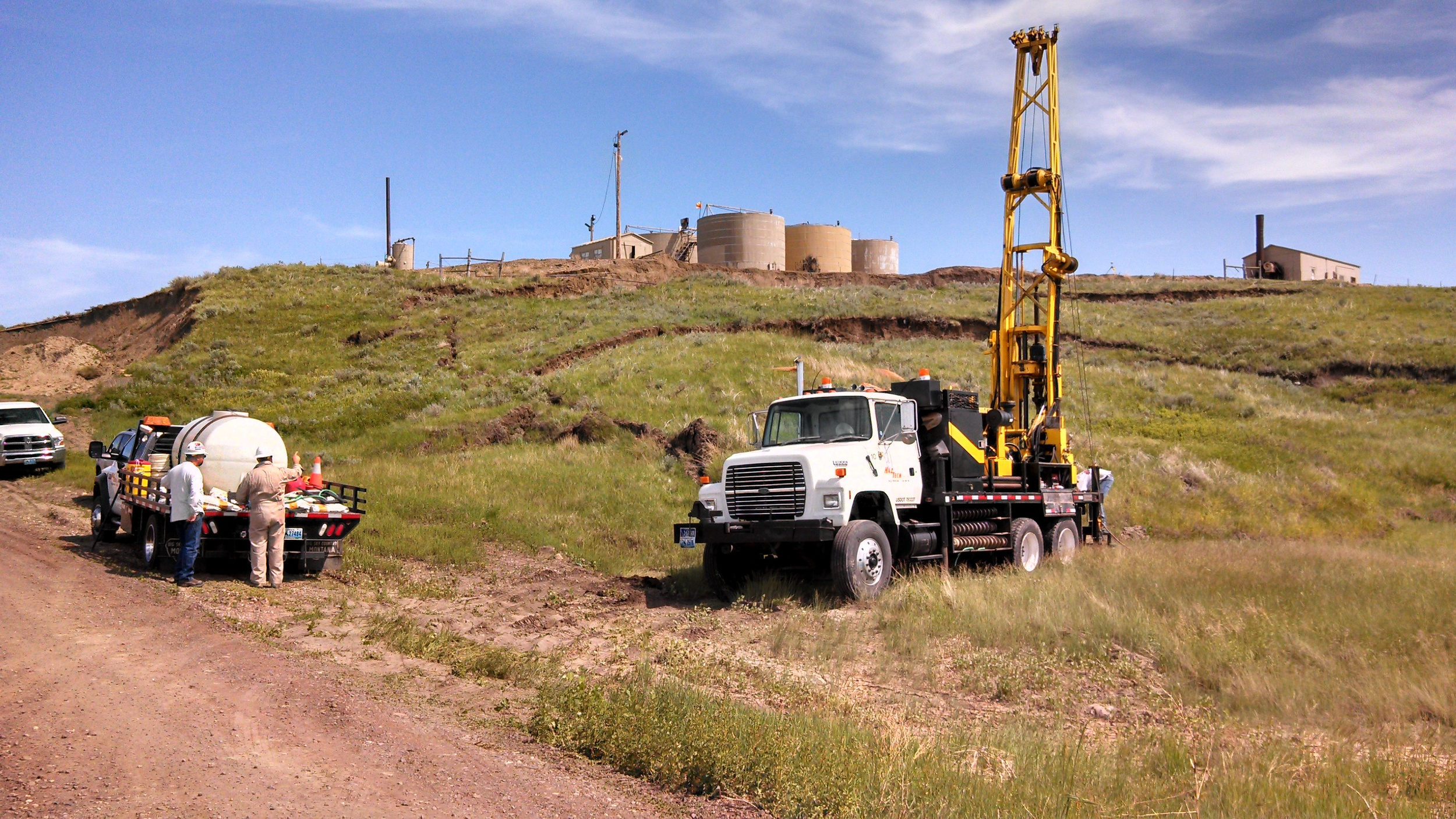 Geotechnical Investigation of slump at oil production tank battery