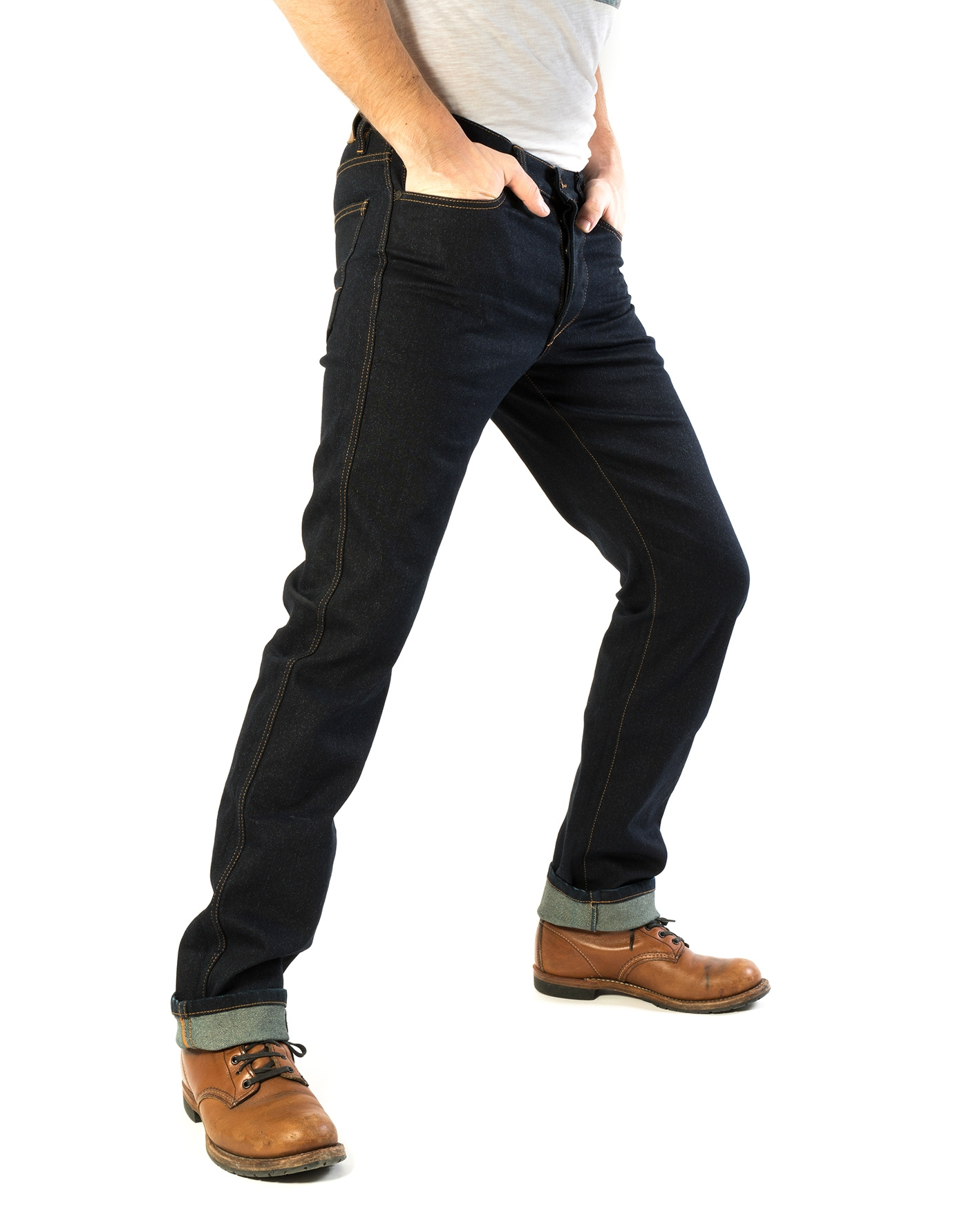 JEAN'STER - WITH A CLASSIC FIT - AND AVAILABLE IN STONE WASH, RAW DARK INDIGO, OR BLACK - JEAN'STER IS TIMELESS. THESE JEANS ARE AS COMFORTABLE AS THEY ARE LONG-LASTING.