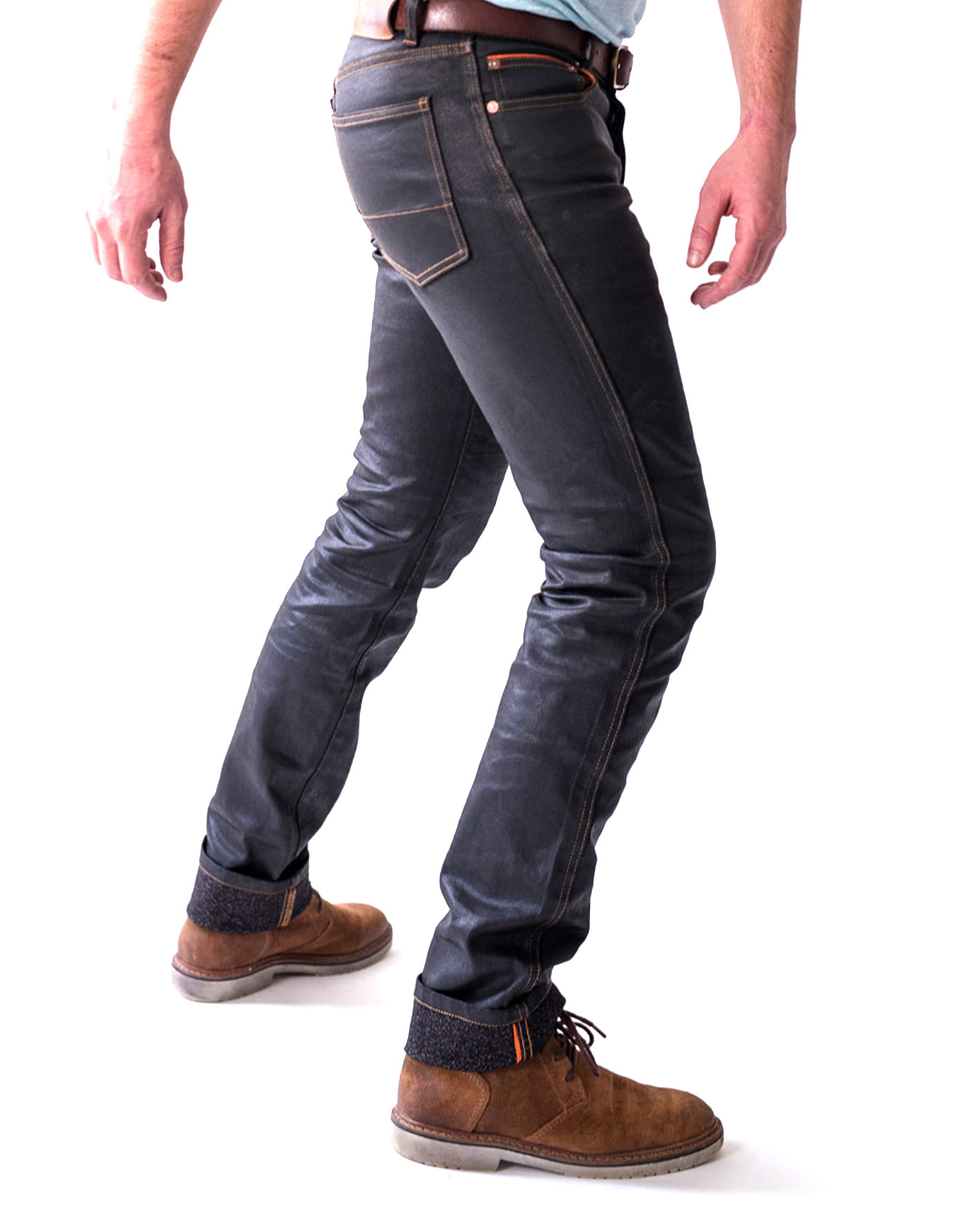 HIP'STER - A MODERN, SLIM-FIT JEAN WITH BOLID'STER'S NEW ARMALITH®2.0 SKIN WATER-REPELLENT FABRIC. STAY SAFE, STAY STYLISH, STAY DRY.