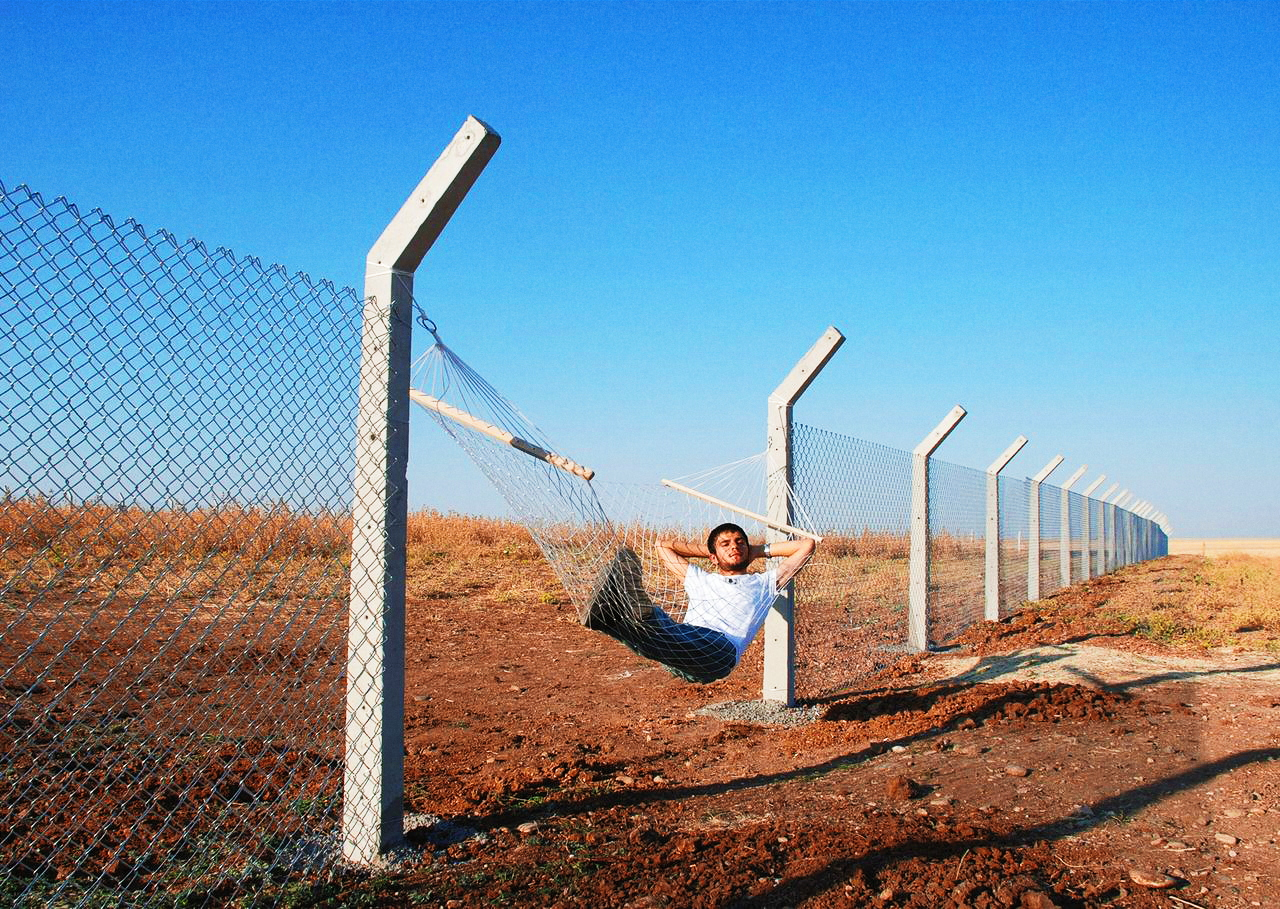 "hopeful-melancholy :     On a border between two States Someone has written,  ""Fuck your nationalism.   We are all Earthlings.""    And on the Mexican border, Someone has ripped through a fence Of reinforced chicken wire With bolt cutters, And erected a hammock By suspending it Between two of the fence's Concrete pillars.   After swinging gently back and forth, From Texas to Mexico and then From Mexico back to Texas, They doze off; contemptuous Of the security guards Patrolling this artificial demarcation  – For, once upon a time, Texas was Mexico And Texas didn't exist.   When Eugene Debs was imprisoned For conscientious objection in World War One He said, on September 11th 1915,  ""I have no country to fight for   My country is the earth   I'm a citizen of the world.""     – Heathcote Williams, ""No Borders"""
