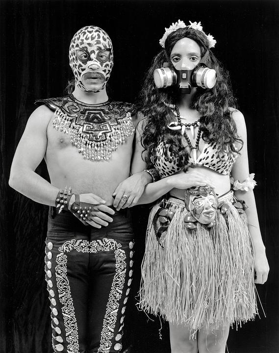 Guillermo Gomez Pena and Coco Fusco   Couples in a Cage