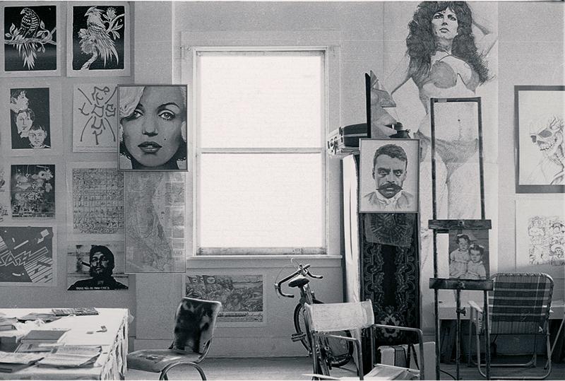 Interior of Public Art Center studio / circa 1978 / Photo by and courtesy of John Valadez