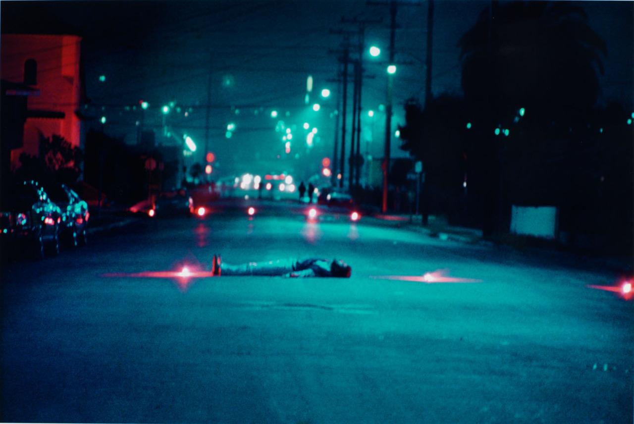 """""""  Decoy Gang War Victim  """" (Harry Gamboa Jr., 1974),"""