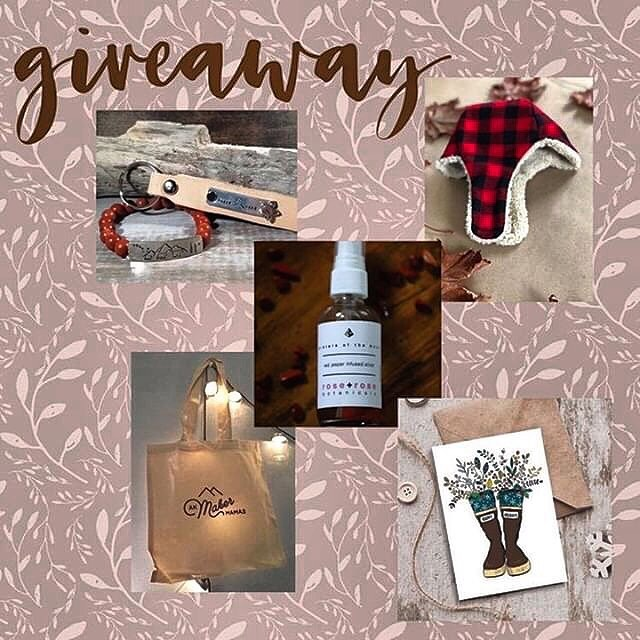 ✨'Tis the season for a holiday giveaway! AK Maker Mamas has rounded up four Alaskan shops to help spread some holiday spirit. ✨ To enter simply like each maker's page, ❤️ this post on each page and tag a friend on each post (one tag per comment, multiple comments welcome). @ak.maker.mamas • tote bag to carry all the things! @roseandrosebotanicals • sisters of the moon is a warm and tender mist infused with red jasper- a grounding stone that imparts courage and stability for our greatest good.  Freely mist on the body, linens, and surroundings for a harmonious and peaceful space @here.there.boutique • hand stamped Maker Mama bracelet and keychain @corsographics •10 pack assorted holiday cards with Alaska inspired designs created by local artist Annie Brace of Corso Graphics! @omaandjo • $25 shop credit so you can order the size and print of your choosing  The winner will be chosen and announced on Monday evening! Good luck and enjoy exploring these wonderful Alaskan Maker Mama shops! 🌲