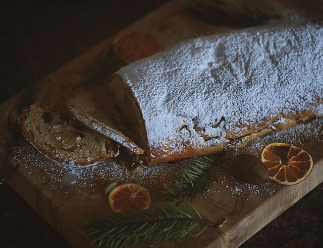 Will be making stollen next week.  Please let me know if you would like to reserve a loaf (or two or three 😉). My stollen is not a traditional Dresden loaf- I omit the candied fruit, ramp up the warm spices and add almond paste. One of my favorite Christmas treats! ❄️🌲⛄️