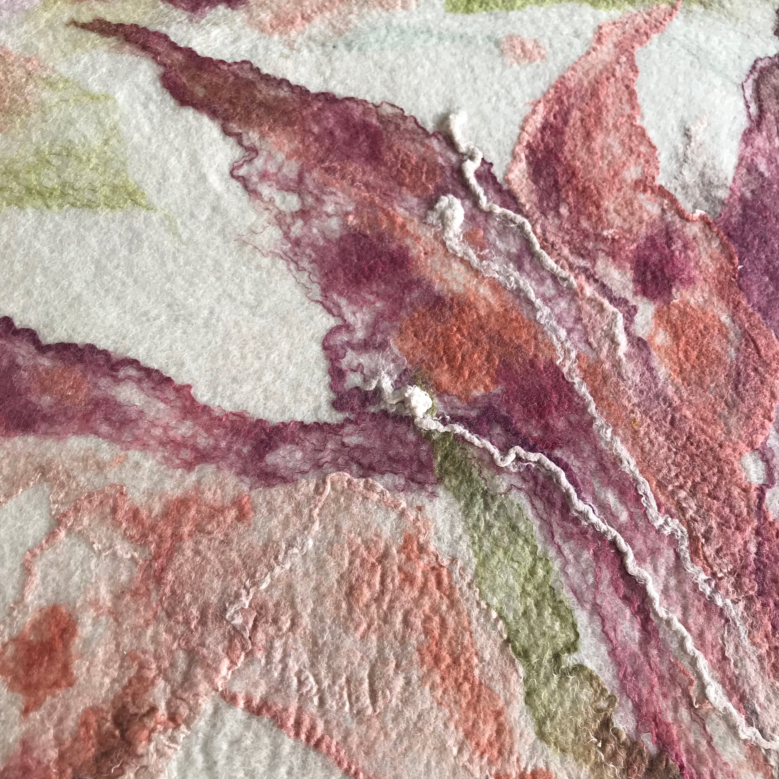 Felted artwork isn't any more difficult to care for than other painted mediums.