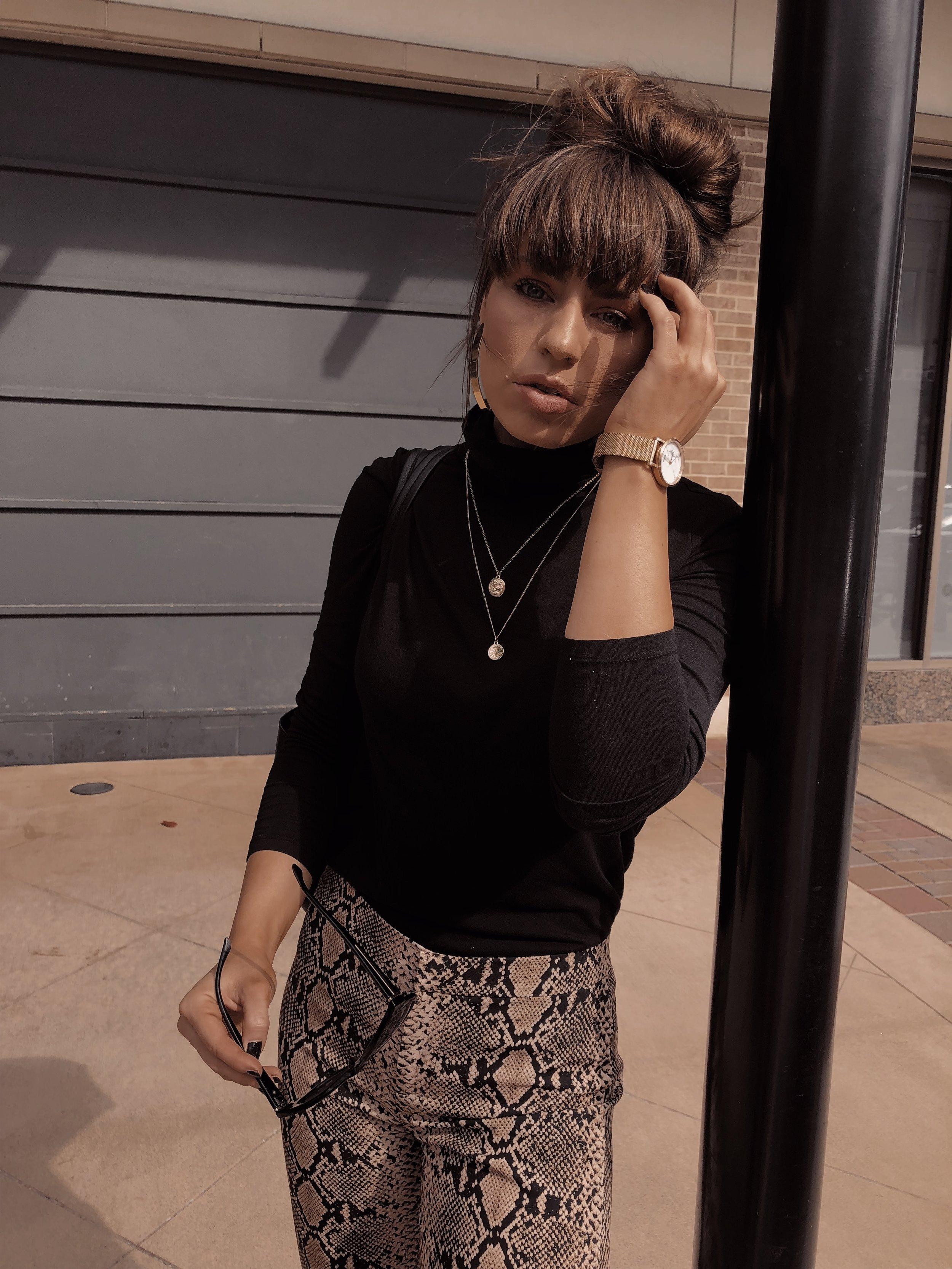 Womens Fashion Snakeskin Pants from Zara