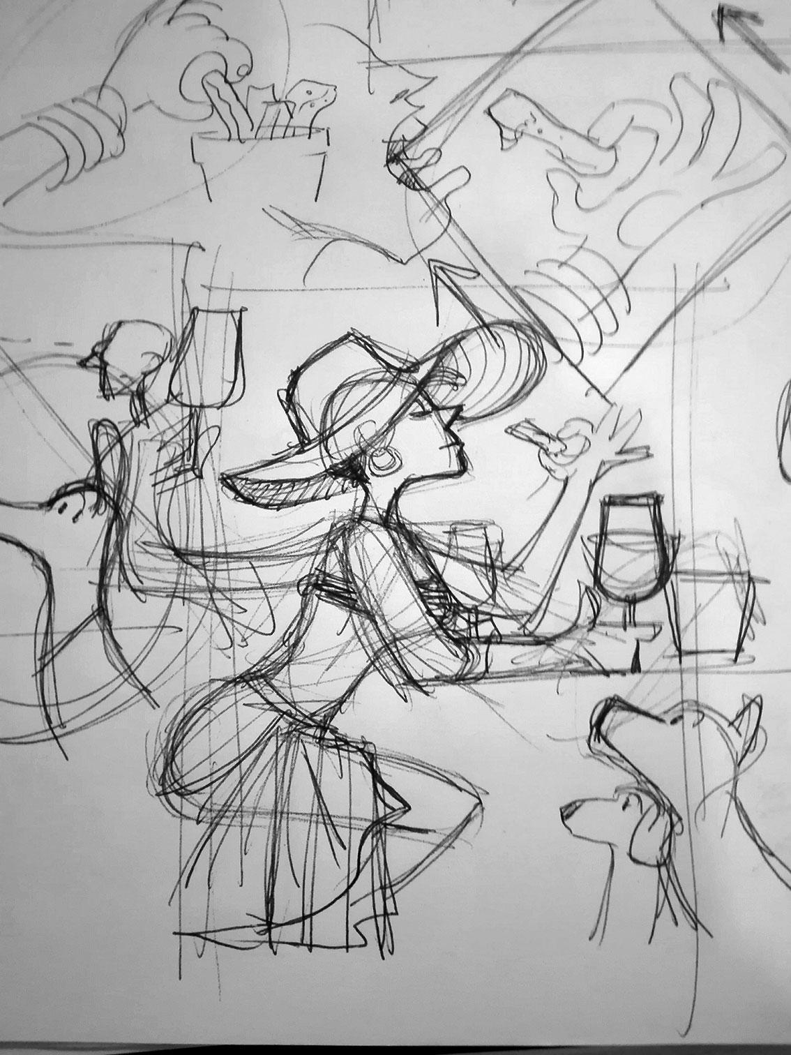 Sketches. Lisbon 2019.