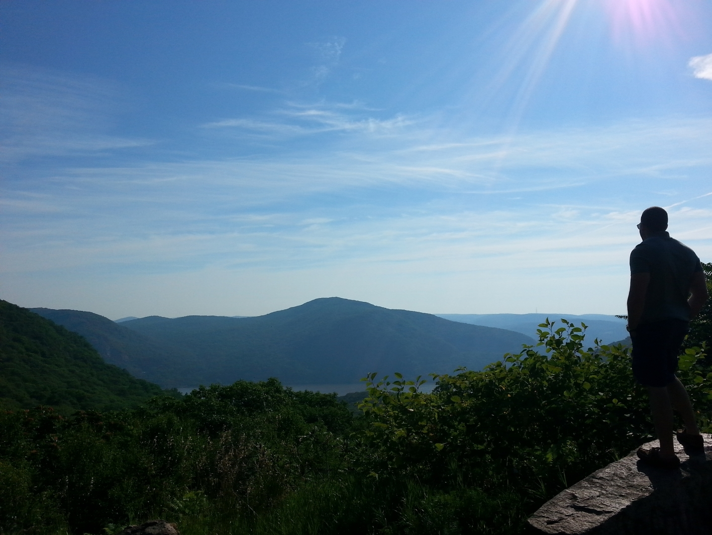 Views of the Hudson Valley from the drive up to Newburgh.