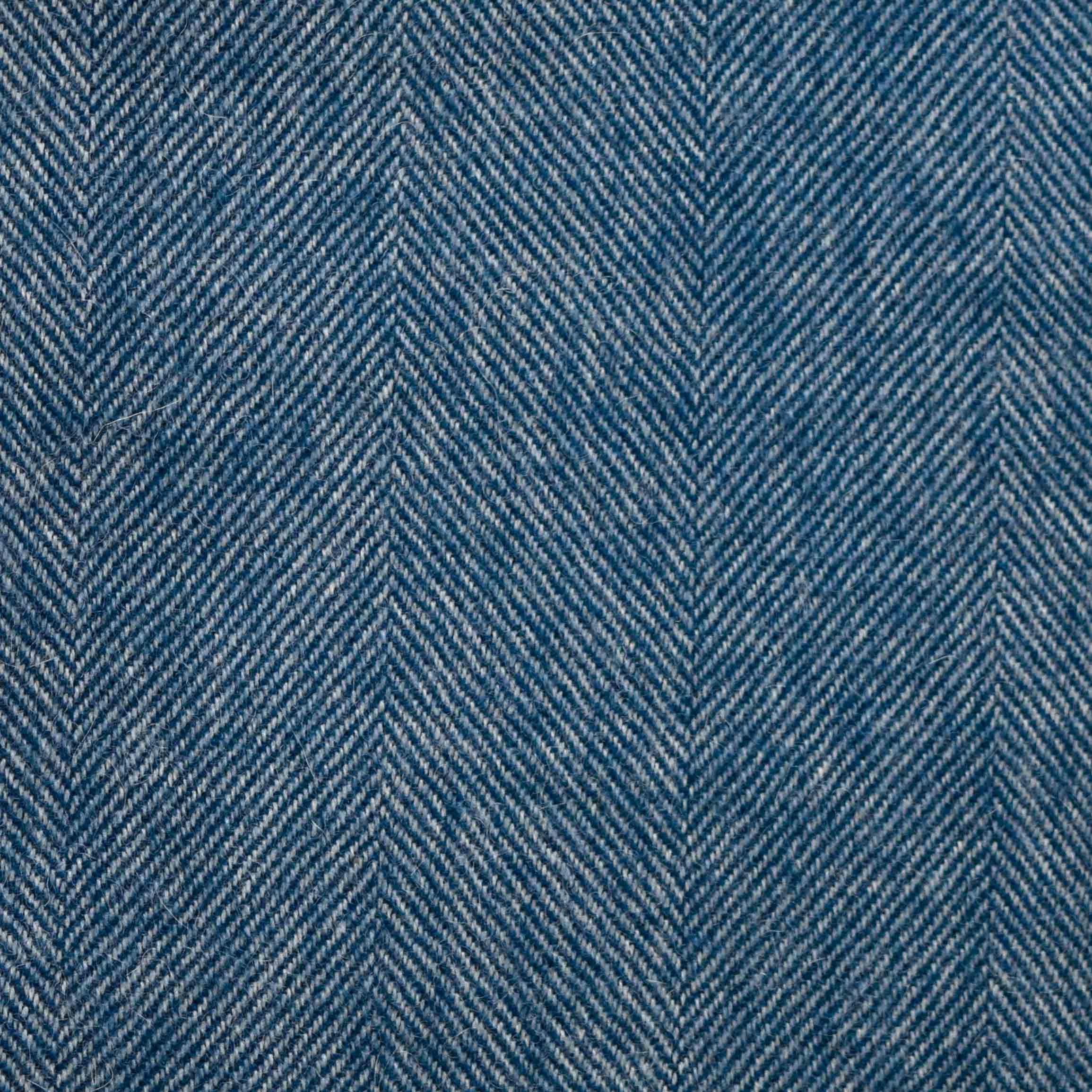 Denim Blue Herringbone