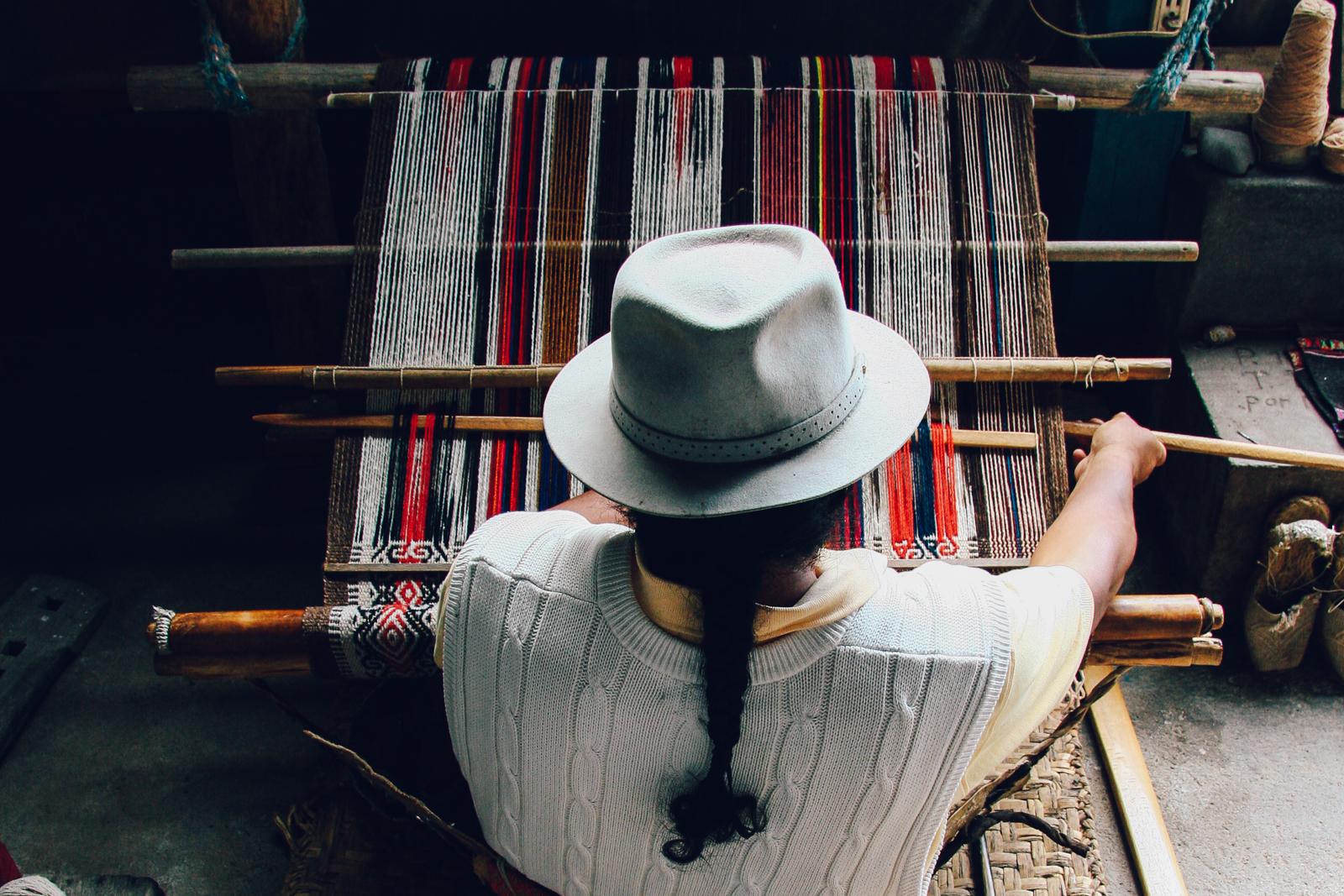 Traditional Weaver, Quito, Ecuador