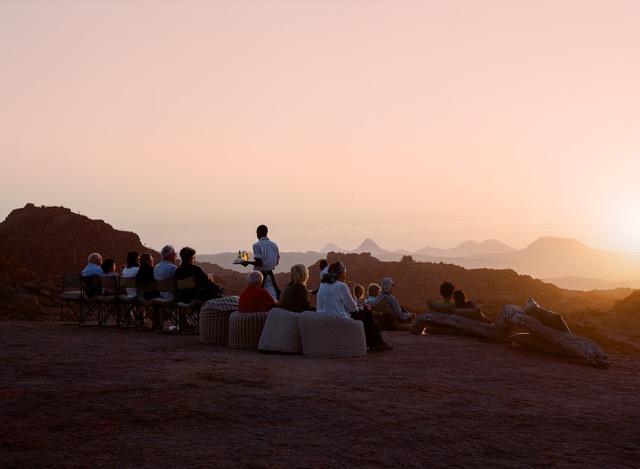 Africa sunset sundowners - Namibia Travel Experts