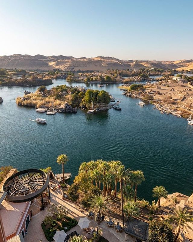 Between the Nubian desert and palm trees lies this magical hotel, the Sofitel Legend Old Cataract, Aswan. 🙌🏻