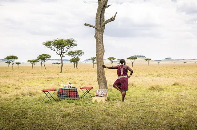 While on safari, there is no need to rush back to camp for breakfast.