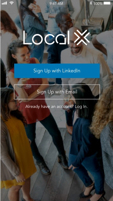 Signing up with LinkedIn would let Attendees see which LinkedIn connections would be attending particular events and later on create an attendee list if they decided to be a host.